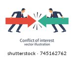 conflict of interest. business... | Shutterstock .eps vector #745162762
