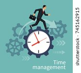 time management  control.... | Shutterstock .eps vector #745162915