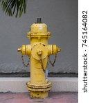Yellow Fireplug On The Street
