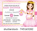 vector card template with...   Shutterstock .eps vector #745165282