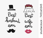best husband and wife ever word ...   Shutterstock .eps vector #745165345