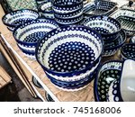 polish pottery  colorful... | Shutterstock . vector #745168006