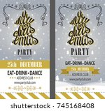 merry christmas party... | Shutterstock .eps vector #745168408
