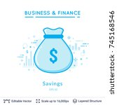 money bag savings symbol on...