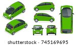 small compact electric vehicle... | Shutterstock . vector #745169695