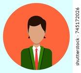 avatar profile icon male... | Shutterstock .eps vector #745172026