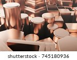 cylindrical copper steel