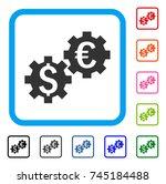 financial mechanics icon. flat...