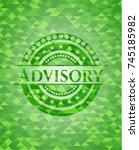 advisory green emblem with... | Shutterstock .eps vector #745185982