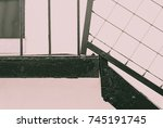 abstract image of black steel... | Shutterstock . vector #745191745