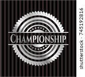 championship silver shiny emblem | Shutterstock .eps vector #745192816