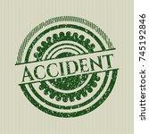 green accident distress rubber... | Shutterstock .eps vector #745192846