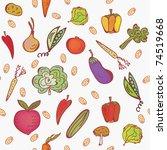 vegetables seamless bright... | Shutterstock .eps vector #74519668