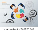 business meeting and... | Shutterstock .eps vector #745201342