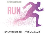 running athlete  daily training.... | Shutterstock .eps vector #745202125
