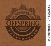 offspring retro wood emblem | Shutterstock .eps vector #745202662