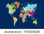 color world map | Shutterstock .eps vector #745203028