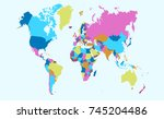 color world map | Shutterstock .eps vector #745204486