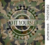 do it yourself on camouflaged... | Shutterstock .eps vector #745205182
