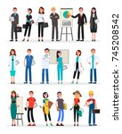 professional teams set of... | Shutterstock . vector #745208542