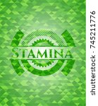 stamina green emblem with... | Shutterstock .eps vector #745211776