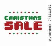 ultimate christmas banner... | Shutterstock .eps vector #745211992