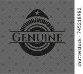 genuine retro style black emblem | Shutterstock .eps vector #745218982
