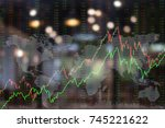 finance background. up trend... | Shutterstock . vector #745221622