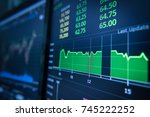 stock market graph analysis for ... | Shutterstock . vector #745222252