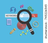 keyword search concept banner... | Shutterstock .eps vector #745226545
