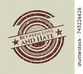 red between love and hate... | Shutterstock .eps vector #745226626