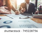 business contract. agreement...   Shutterstock . vector #745228756