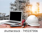 engineering industry concept in ... | Shutterstock . vector #745237306