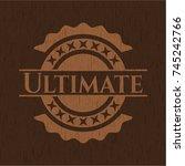 ultimate wooden emblem. vintage. | Shutterstock .eps vector #745242766