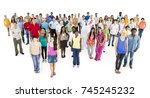 large group of diverse people | Shutterstock . vector #745245232