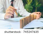 business control concept by...   Shutterstock . vector #745247635