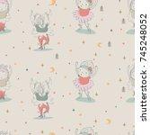 ballet dancer  seamless pattern ... | Shutterstock .eps vector #745248052