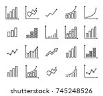 set of premium growth icons in...