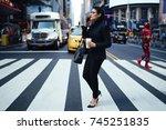 confident female lawyer...   Shutterstock . vector #745251835