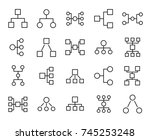set of premium hierarchy icons... | Shutterstock .eps vector #745253248