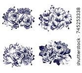 flower set | Shutterstock .eps vector #745253338
