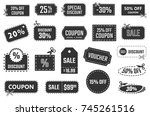 discount coupons  sale banners  ... | Shutterstock .eps vector #745261516