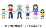 vector illustration of happy... | Shutterstock .eps vector #745266346