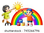vector illustration of cartoon...   Shutterstock .eps vector #745266796