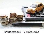 business  finance  saving money ...   Shutterstock . vector #745268065
