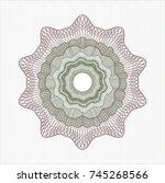 green and red rosette | Shutterstock .eps vector #745268566