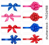 big set of gift bows with... | Shutterstock .eps vector #74526988