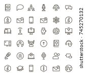 chat icon set. collection of... | Shutterstock .eps vector #745270132