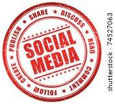 social media symbol | Shutterstock . vector #74527063