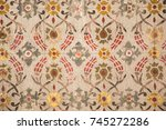 floral art pattern example of... | Shutterstock . vector #745272286